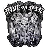 Ride Or Die Biker For Life Big Patch Brodyrmärke.